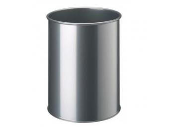 Durable kovový kôš 15l strieborný