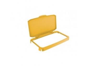 Durable Veko s rámom na plastový kôš DURABIN 60,žlté
