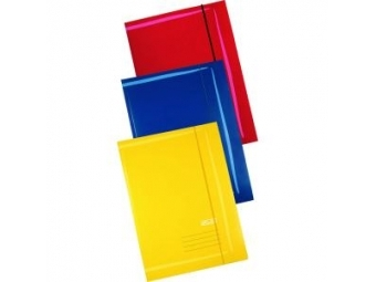 Herlitz Obal A3 farebný UNI,3 chlopne s gumičkou,mix