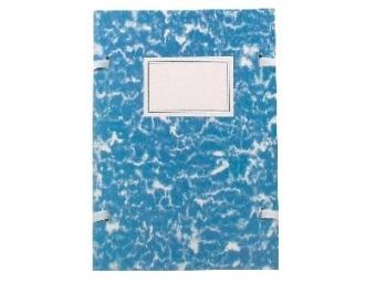 Spisová doska A4 poťahovaná mramor modrá