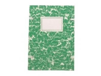 Spisová doska A4 poťahovaná mramorová zelená