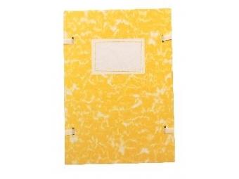 Spisová doska A4 poťahovaná mramorová žltá
