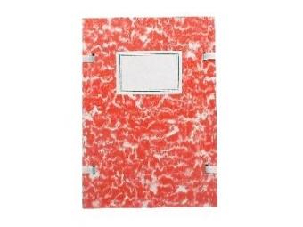 Spisová doska A4 poťahovaná mramor červená