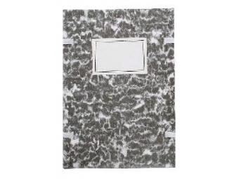 Spisová doska A4 poťahovaná mramor čierna