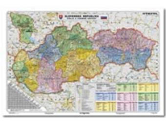 Mapa 140x100cm SR kraje a územné obvody 1:300000