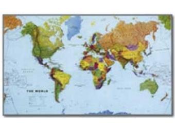 Mapa 195x120cm Svet - gigant 1:20mil.