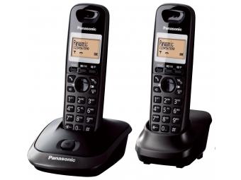 Panasonic KX-TG2512FXT Bezdr. telefón, titán. čierna