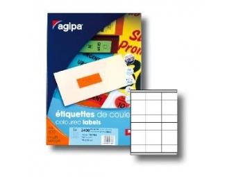 AGIPA Etikety univerzálne 70x35mm fluorescenčné oranžové (bal=100)