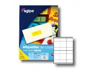 AGIPA Etikety univerzálne 75x37mm fluo.žlté (bal=100ks)
