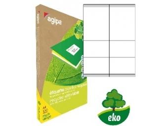 AGIPA Etikety univerzálne recyklované 105x70mm (bal=100ks)