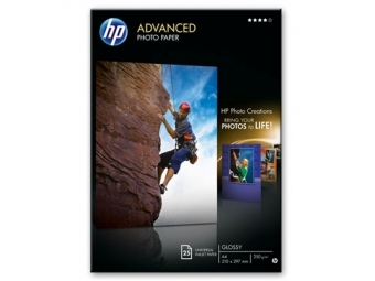 HP Advanced Glossy Photo Paper (Q5456A), A4 (bal=25ks)