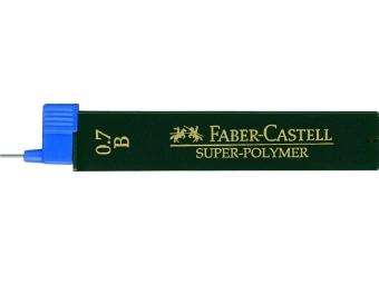 Faber-Castell Super-Polymer 0,7 B,tuha do mikroceruzky (bal=12ks)
