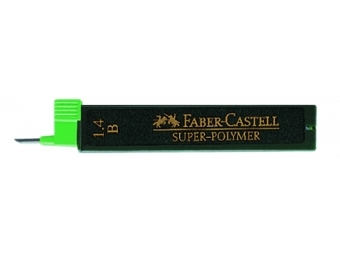 Faber-Castell Super-Polymer 1,4 B,tuha do mikroceruzky (bal=6ks)