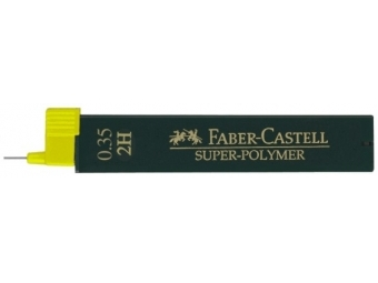 Faber-Castell Super-Polymer 9063 0,35 2H,tuha do mikroceruzky (bal=12ks)