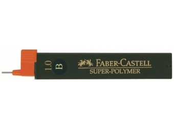 Faber-Castell Super-Polymer 0,9-1mm B,tuha do mikroceruzky (bal=12ks)