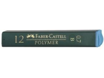 Faber-Castell Polymer 0,7 B,tuha do mikroceruzky (bal=12ks)