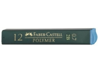Faber-Castell Polymer 0,7 2B,tuha do mikroceruzky (bal=12ks)