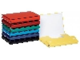 Donau Box na dokumenty kartónový 35mm so suchým zipom červený