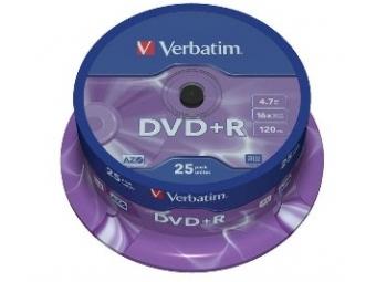Verbatim DVD+R 16x Cake box (bal=25ks)
