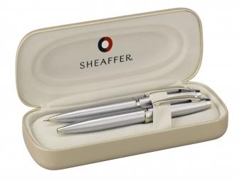 Sheaffer 100, sada guličkové pero+mikroceruzka chrom
