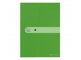Herlitz Obal na dokumenty PP A4 so zapínaním Easy Orga zelený