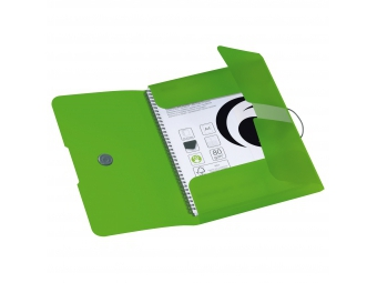 Herlitz Obal na dokumenty PP A4 trojchl. s gumičkou zelený