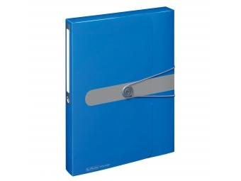 Herlitz Box na dokumenty PP A4/4cm s gumičkou tm.modrý