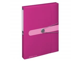 Herlitz Box na dokumenty PP A4/4cm s gumičkou ružový