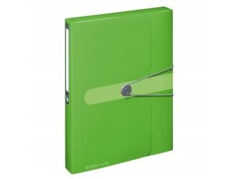 Herlitz Box na dokumenty PP A4/4cm s gumičkou zelený