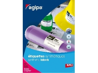 AGIPA Etikety PES laser biele 210x297mm/A4 (bal=100ks)