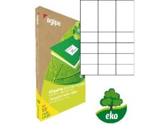 AGIPA Etikety univerzálne recyklované 70x42,4mm (bal=100ks)