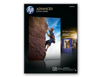 HP Advanced Glossy Photo Paper (Q8696A), 13×18cm (bal=25ks)