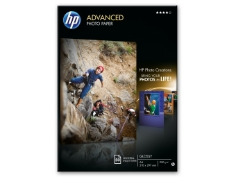 HP Advanced Glossy Photo Paper (Q8698A), A4 250g (bal=50ks)