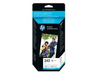 HP No.343 Photo Starter Pack (Q7948E), 10x15cm/60 listov