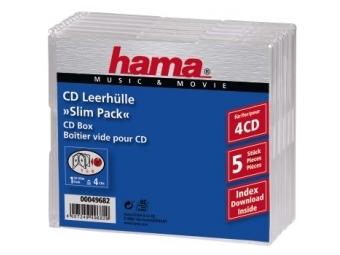 Hama 49682 CD box Slim 4, 5 ks