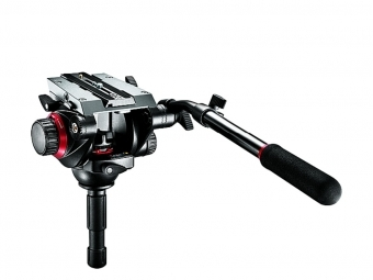 Manfrotto 504HD fluidná videohlava, nosnosť 7,5kg, +RD 504PL, 75mm polguľa