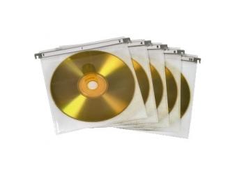 Hama 51176 náhradné obaly na CD do CD kufríkov, 50 ks, biele