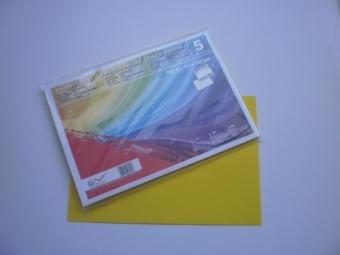 Obálka farebná C6 120g,114x162mm s pásikom slnečná žltá (bal=5ks)