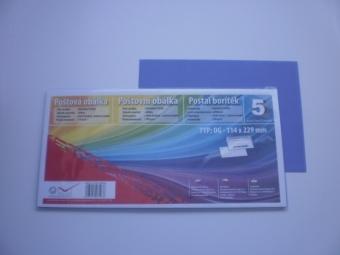 Obálka farebná C6/5(DL)120g,114x229mm s pásikom fialová (bal=5ks)