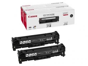 Canon 718BkD Tonerová kazeta Black,2ks