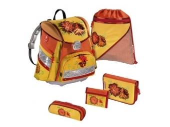 Hama 102923 Step By Step, školský ruksak Kvety s LED osvetlením, 5-dielny set