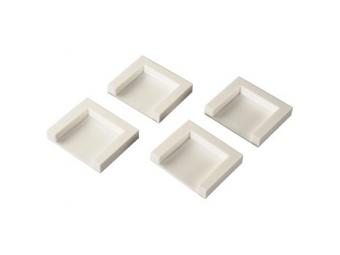Xavax 111310 fixačné platničky pre postavenie sušičky na práčku, 4 ks