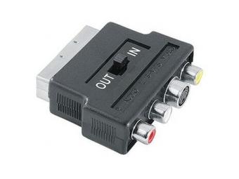 Hama 45201 redukcia SCART vidlica IN/OUT prepínač - 3xcinch A/V + S-video