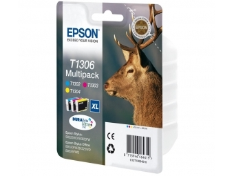 Epson T1306 Atramentová náplň Color multipack XL, C/M/Y