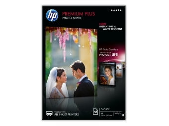 HP Premium Plus Photo Paper Glossy (CR672A), A4, 300g/m2 (bal=50ks)