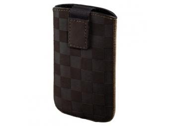 Hama 109383 puzdro na mobil Velvet Pouch Karo, veľkosť XL, hnedé