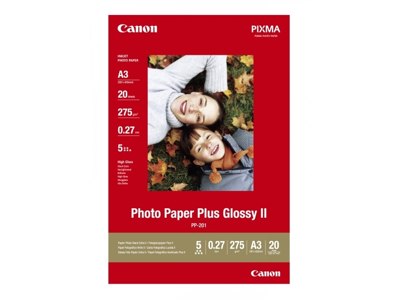 Canon PP201 Photo Paper Plus Glossy II, A3, 275g  (bal=20ks)