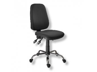 Stolička kancelárska 1140 ASYN C chrom čierna