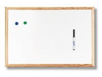 Tabuľa magnetická 60x90cm biela,drevený rám