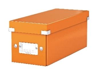 Esselte Archívna škatula na CD Click-Store so sklápacím vekom oranžová